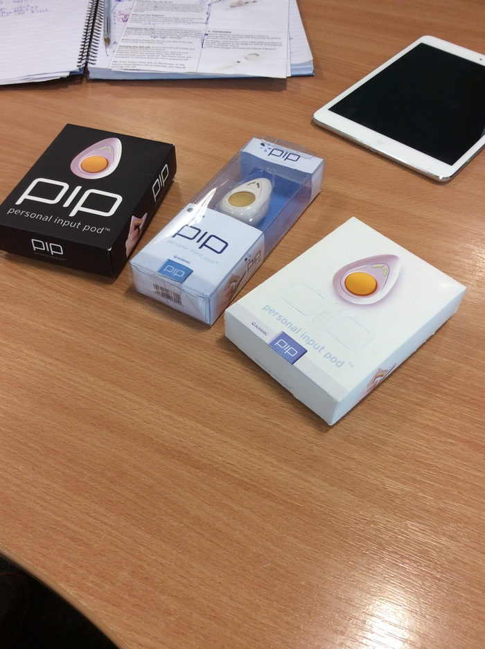 An array of first prototypes for PiP packaging